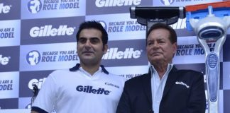 Arbaaz Khan and Salim Khan at Gillette promotional event