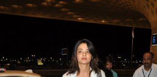 Surveen Chawla snapped at Mumbai Airport