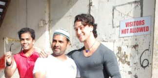Tiger Shroff spends time with fans at Filmistan