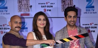 Ayushman Khurana and Parineeti Chopra at press event for Cinestars Ki Khoj