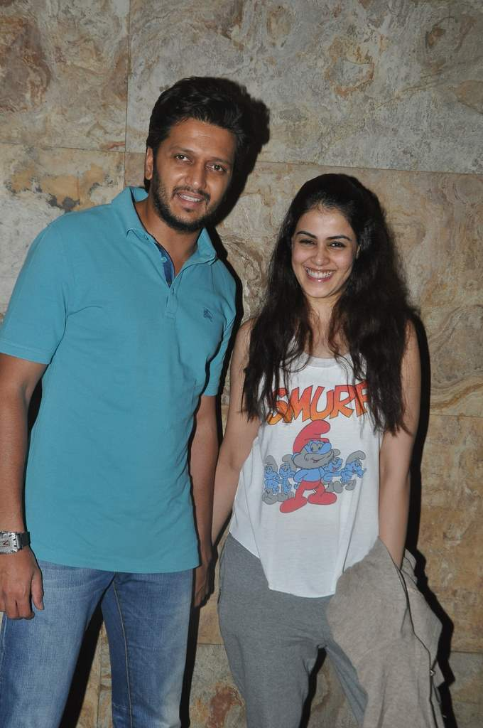 Riteish Deskhmukh and Genelia D'souza.