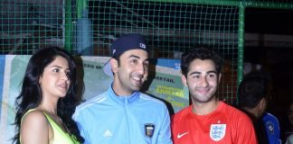 Ranbir Kapoor and Armaan Jain bond over football