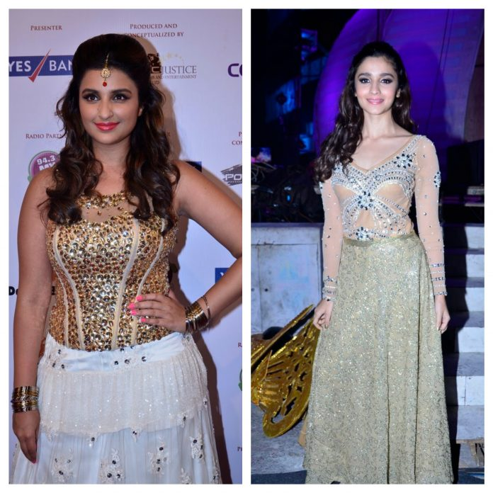 Alia Bhatt and Parineeti chopra at Indian achievers award 2014