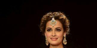 IIJW 2014 Photos – Dia Mirza illuminates the ramp with Shobha Shringar jewels