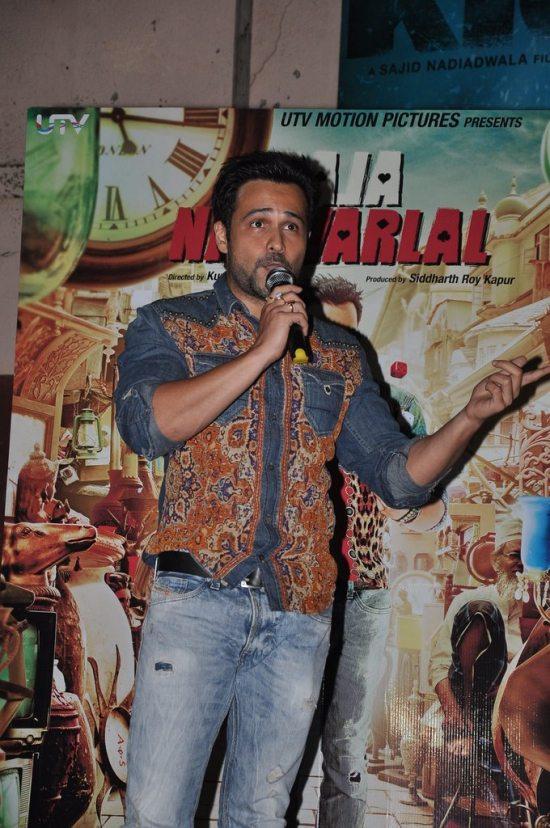 Emraan Hashmi promotes Raja Natwarlal