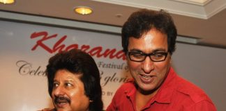 Anup Jalota, Pankaj Udhas and Talat Aziz at Khazana festival press event