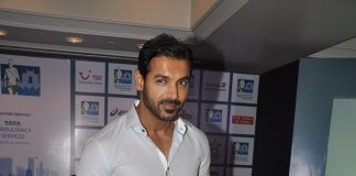 John Abraham attends marathon press event