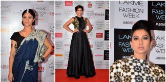 Gauhar Khan and Konkana Sen Sharma at the Lakme Fashion Week 2014 announcement