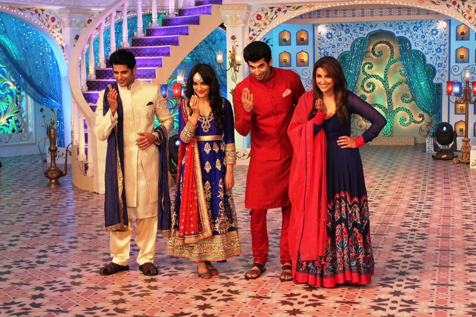 Parineeti and Aditya dawat e eid (2)