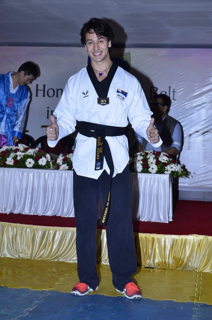 Tiger shroff black belt Taekwondo