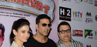 Akshay Kumar and Tamannaah Bhatia promote Entertainment in Delhi