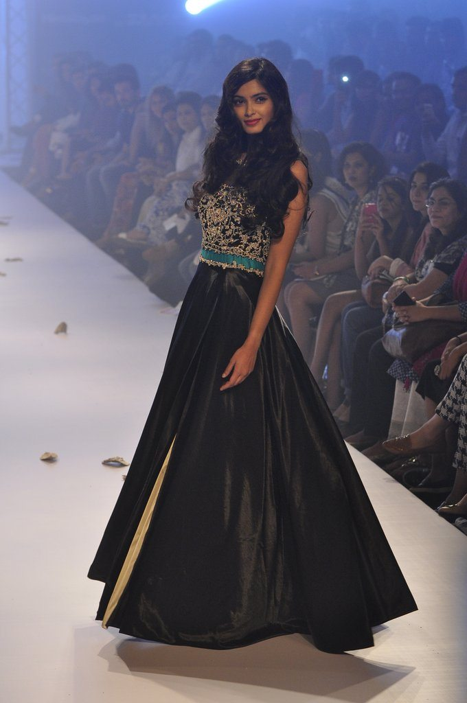 Diana Penty walks for Rocky S's 'Rocky Star for TRESemme Spa' at the LFW 2014