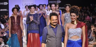 Lakme Fashion Week Winter Festive 2014 Photos – Geeta Basra walks the ramp for Sougat Paul
