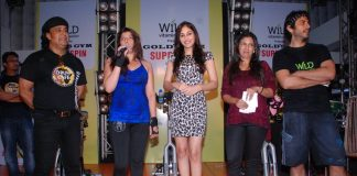 Vikas Bhalla and Pooja Chopra at Gold's Gym Superspin event