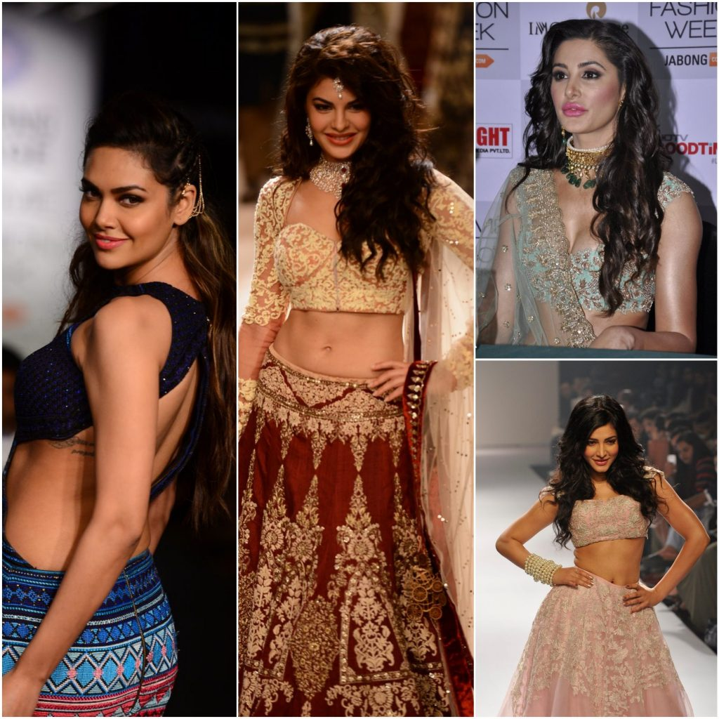 LFW 2014 actresses collage
