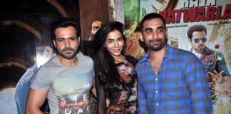 Emraan Hashmi and Humaima Malik attend Raja Natwarlal special screening
