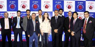 Abhishek Bachchan and Ranbir Kapoor at Indian Super League launch event – Photos