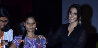 Vidya Balan unveils Smartcane device for the visually impaired at St.Xavier's College