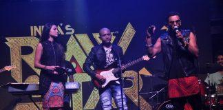Gauhar Khan and Yo Yo Honey Singh at India's Raw Star launch