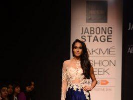 Lakme Fashion Week Winter Festive 2014 Photos – Lisa Haydon walks for Ridhi Mehra