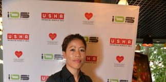 Mary Kom attends The Hab by Usha International
