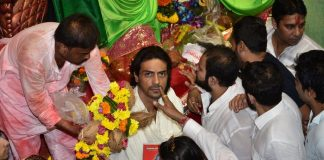Arjun Rampal visits Lal Bagh Ganpati Temple