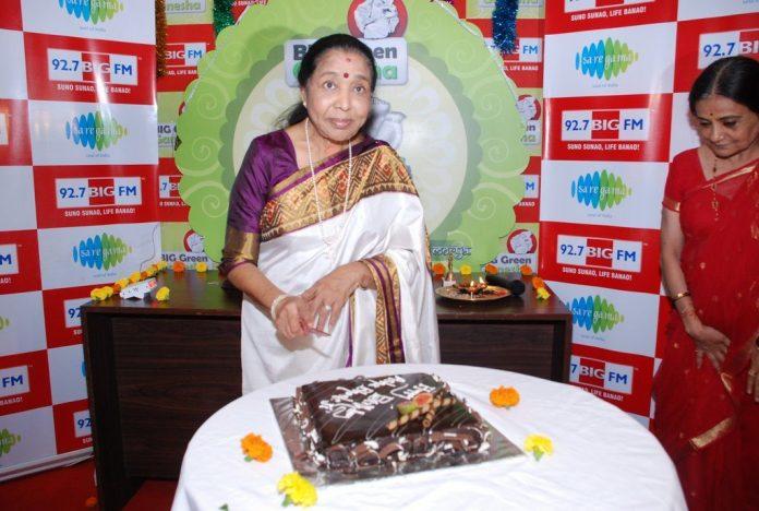 Asha Bhonsle Ganesh BIG FM (1)