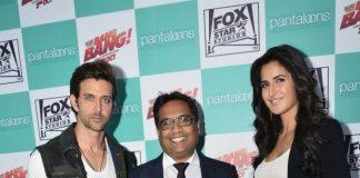 Hrithik Roshan and Katrina Kaif promote Bang Bang at Pantaloons