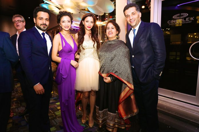 Emraan Hashmi, Geetanjali, Prashita Chaudhary, Guneet Monga and Danis Tanovic at the World Premier of Tigers at Toronto International Film Festival, 8th Sep, 2014