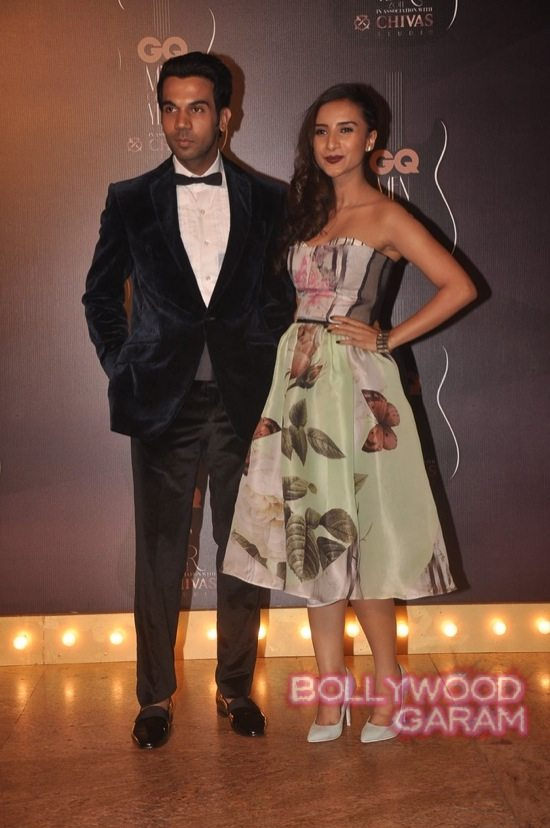 Raj Kumar Rao with Patralekha at the GQ Men Of The Year Awards 2014