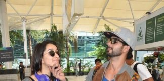 Shraddha Kapoor, Shahid Kapoor and Dhanush at the airport