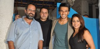 Ranveer Singh at Olive restaurant with Bajirao Mastani producers