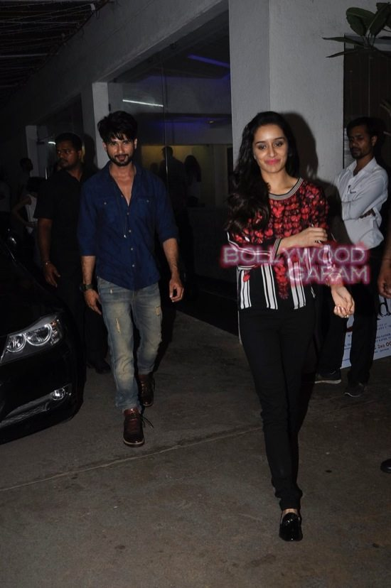 Shraddha Kapoor and Shahid Kapoor at Haider screening-1