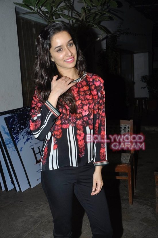 Shraddha Kapoor and Shahid Kapoor at Haider screening-10