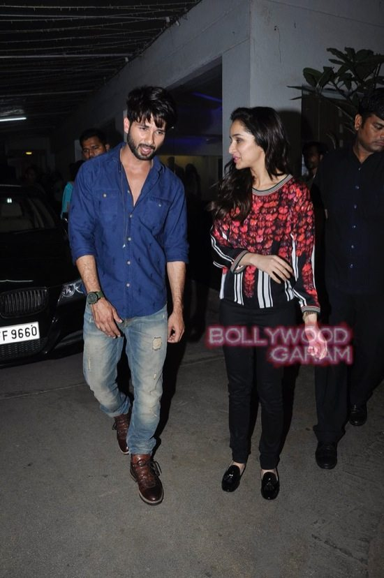 Shraddha Kapoor and Shahid Kapoor at Haider screening-11