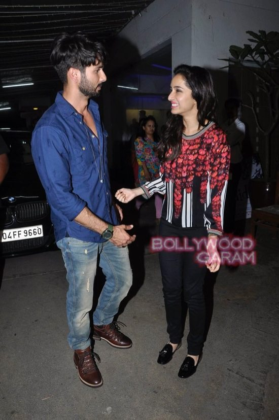 Shraddha Kapoor and Shahid Kapoor at Haider screening-12