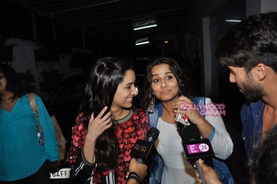 Shraddha Kapoor and Shahid Kapoor at Haider screening-7