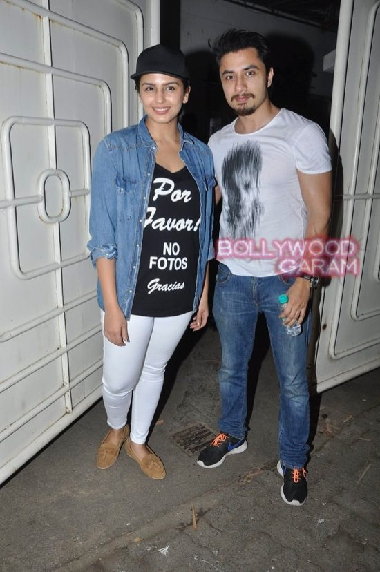 Shraddha Kapoor and Shahid Kapoor at Haider screening