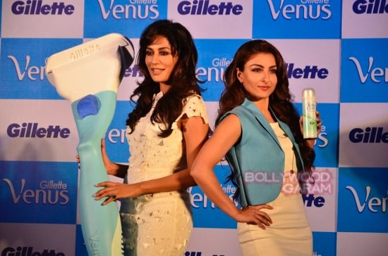 Soha and Chitrangada at Gillette Venus event