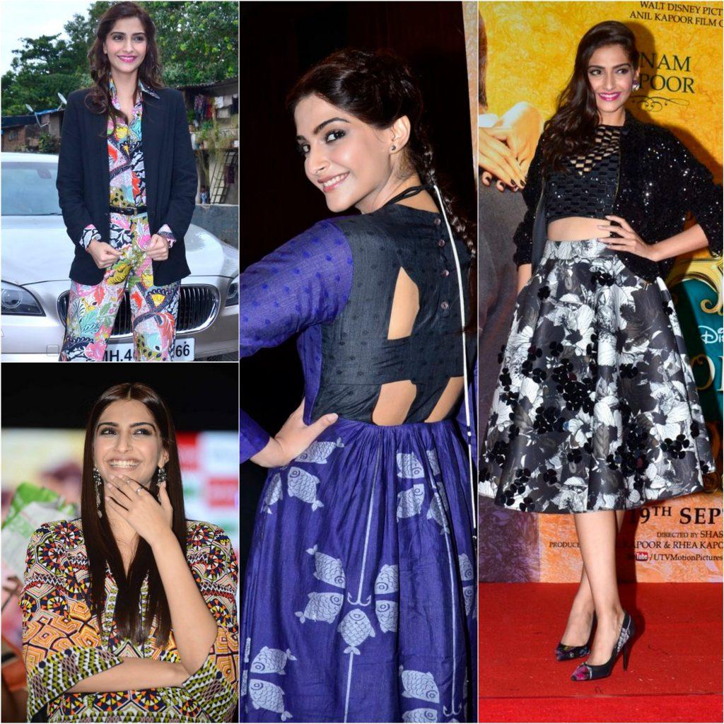 Sonam Kapoor collage
