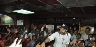 Abhishek Bachchan interacts with fans at Gaiety Cinema