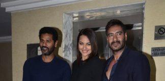 Sonakshi Sinha and Ajay Devgn promote Action Jackson on KBC