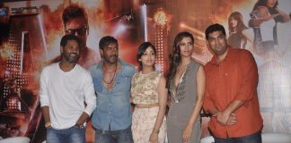 Ajay Devgn, Prabhu Deva and Yami Gautam at Action Jackson trailer launch