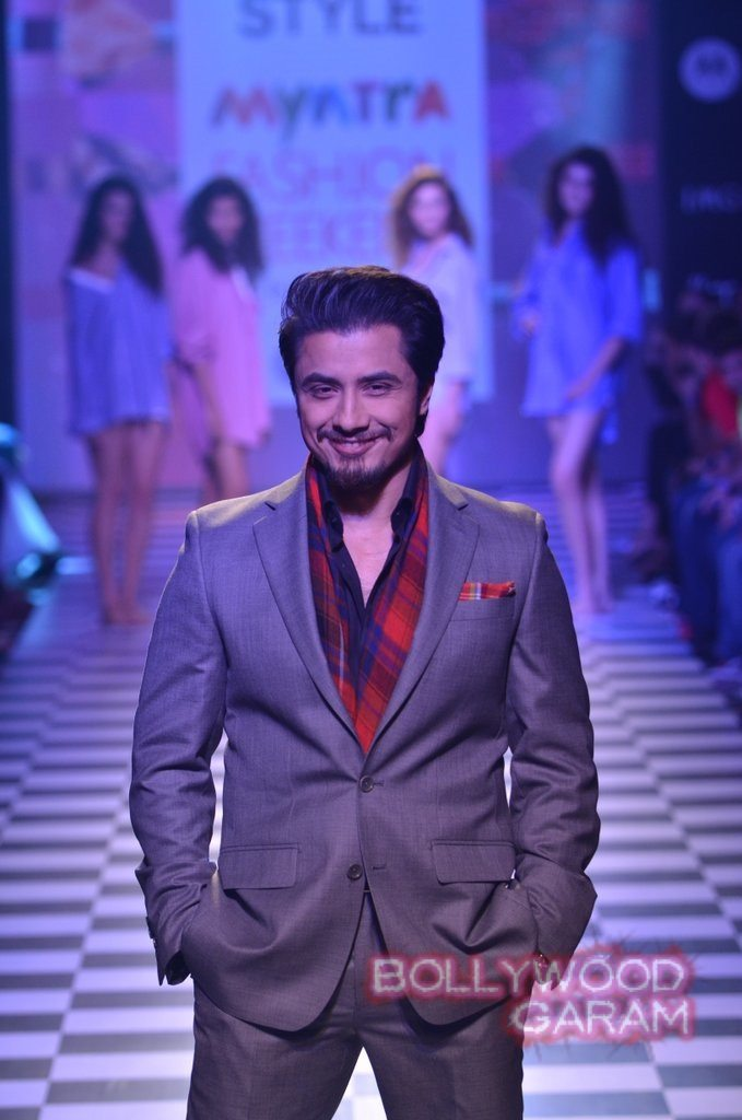 Ali Zafar Myntra Fashion Weekend 2014-3