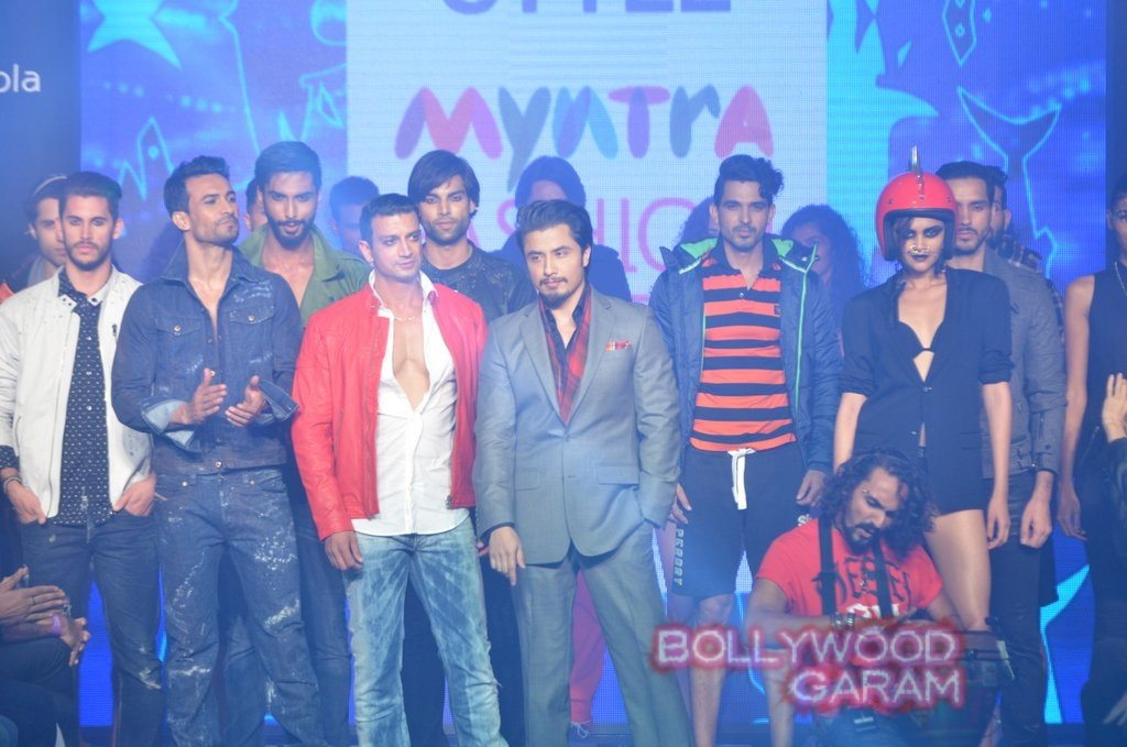 Ali Zafar Myntra Fashion Weekend 2014-5