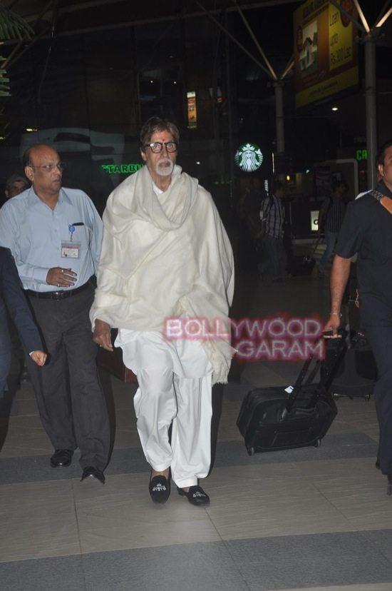 Anu kapoor_lisa haydon and Amitabh bachchan_mumbai airport-2