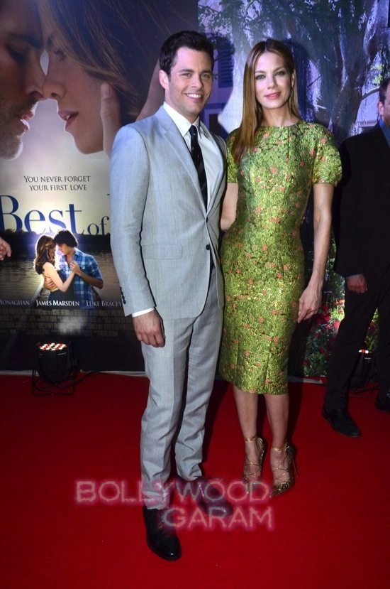 Best of me premiere mumbai_Michelle Monoghan and James M-5