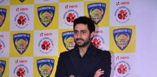 Abhishek Bachchan unveils official jersey of ISL team Chennai FC