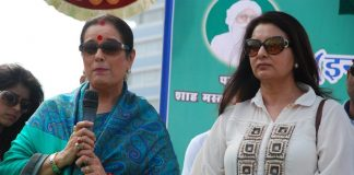 Poonam Dhillon and Poonam Sinha take part in cleanliness drive