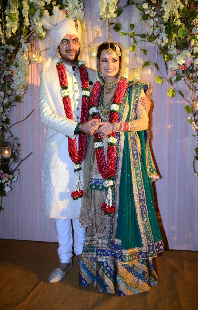 Dia mirza wedding reception